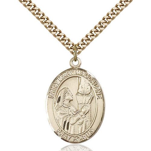 Bliss St. Mary Magdalene Pendant - Oval, Large, 14kt Gold Filled