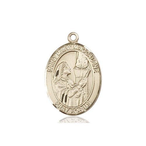 Bliss St. Mary Magdalene Medal - Oval, Large, 14kt Gold