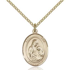 Bliss St. Ann Pendant - Oval, Medium, 14kt Gold Filled