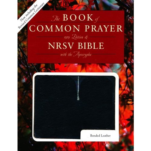 BOOK OF COMMON PRAYER AND THE HOLY BIBLE, NRSV, BONDED BLACK LEATHER