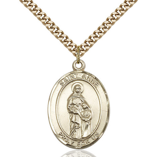 Bliss St. Anne Pendant - Oval, Large, 14kt Gold Filled