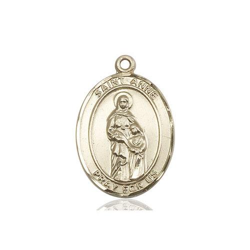 Bliss St. Anne Medal - Oval, Large, 14kt Gold