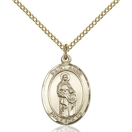 Bliss St. Anne Pendant - Oval, Medium, 14kt Gold Filled
