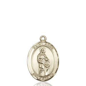 Bliss St. Anne Medal - Oval, Medium, 14kt Gold