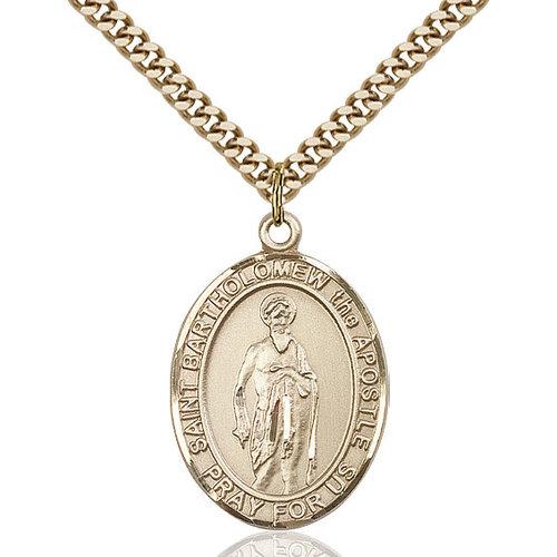 Bliss St. Bartholomew the Apostle Pendant - Oval, Large, 14kt Gold Filled