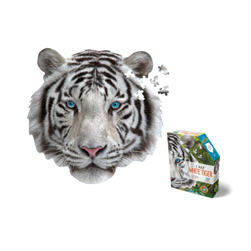 MADD CAPP 300 Piece Puzzle I AM WHITE TIGER