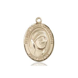 Bliss Blessed Teresa of Calcutta Medal - Oval, Large, 14kt Gold