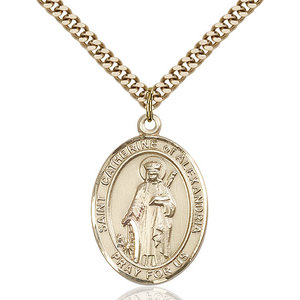 Bliss St. Catherine of Alexandria Pendant -  Oval, Large, 14kt Gold Filled