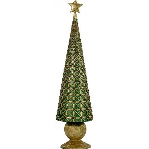 Diamond Burst Cone Tree 9 inch Green