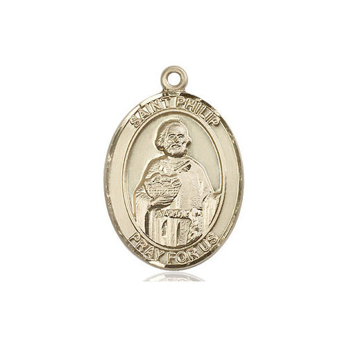 Bliss St. Philip the Apostle Medal - Oval, Large, 14kt Gold