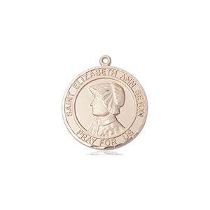 Bliss St. Elizabeth Ann Seton the Apostle Medal -Round, Medium, 14kt Gold
