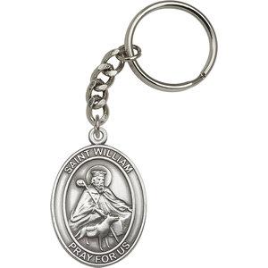 Bliss St. William Keychain, Antique Silver