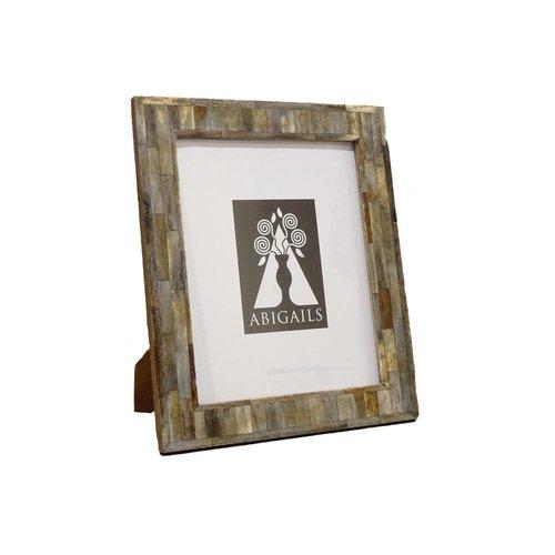 Inlaid Frame, Gray Bone, 4X6 Photo