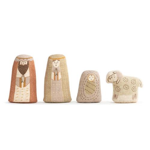 Fabric Nativity Set 4 Pc in Bag