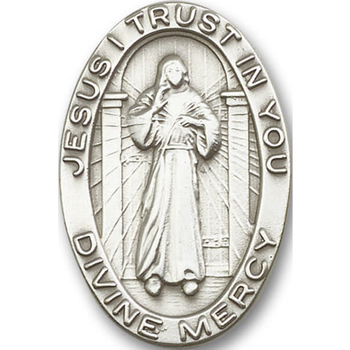 Bliss Divine Mercy Visor Clip, Antique Silver