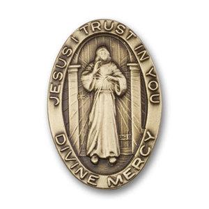 Bliss Divine Mercy Visor Clip, Antique Gold