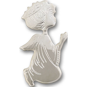 Bliss Angel Visor Clip, Silver Plate