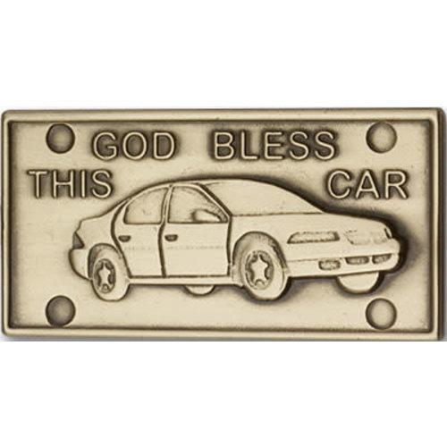 Bliss God Bless This Car Visor Clip, Antique Gold