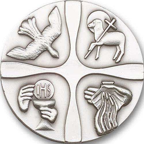 Bliss Christian Life Visor Clip, Antique Silver