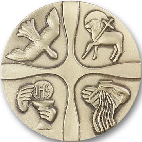 Bliss Christian Life Visor Clip, Antique Gold
