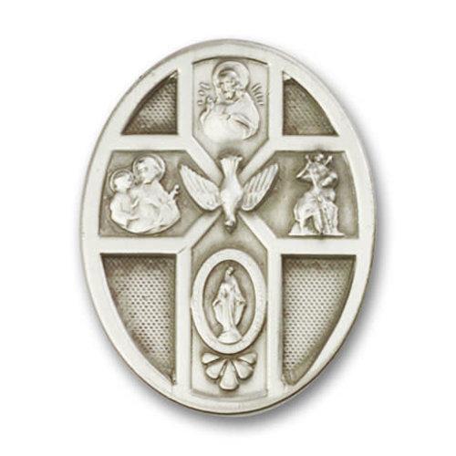 Bliss 5-Way / Holy Spirit Visor Clip, Antique Silver