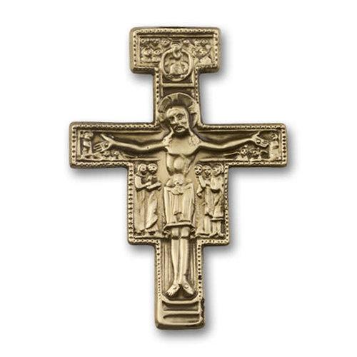 Bliss San Damiano Visor Clip, Antique Gold