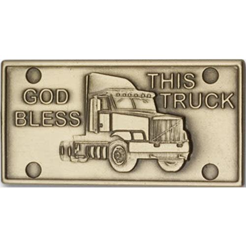 Bliss God Bless This Truck Visor Clip, Antique Gold