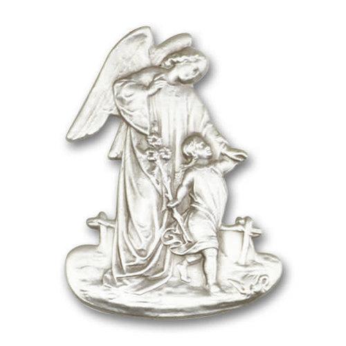 Bliss Guardian Angel Visor Clip, Antique Silver