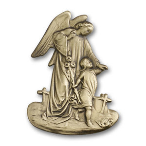 Bliss Guardian Angel Visor Clip, Antique Gold