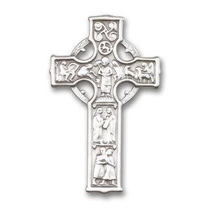 Bliss Celtic Cross Visor Clip, Antique Silver