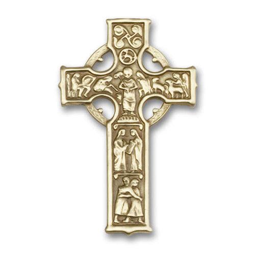 Bliss Celtic Cross Visor Clip, Antique Gold