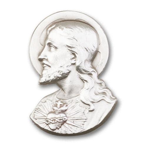 Bliss Sacred Heart Visor Clip, Antique Silver