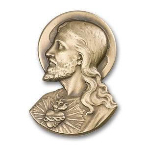 Bliss Sacred Heart Visor Clip, Antique Gold