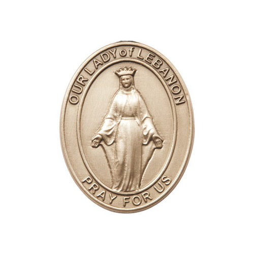 Bliss Our Lady of Lebanon Visor Clip, Gold Oxide