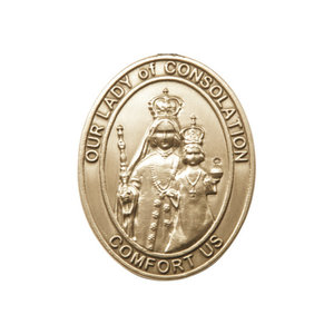 Bliss Our Lady of Consolation Visor Clip, Gold Oxide