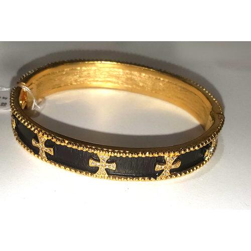 Gold Magnet Closure Bracelet by Be-Je