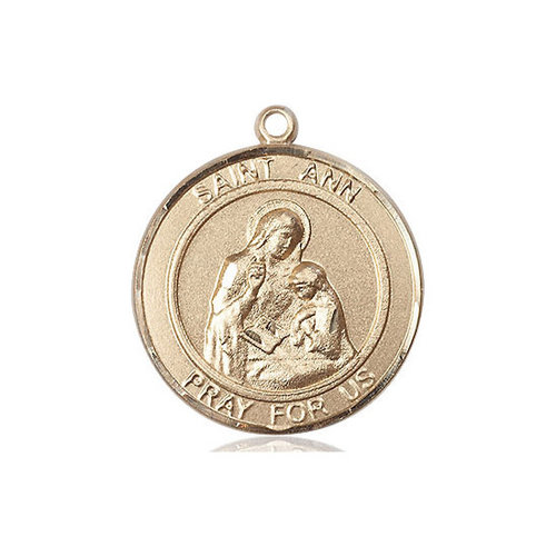 Bliss St. Ann Pendant - Round, Large, 14kt Gold Filled