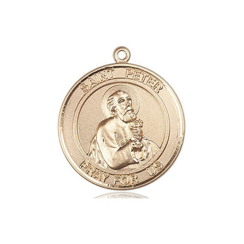 Bliss St. Peter the Apostle Medal -Round, Medium, 14kt Gold