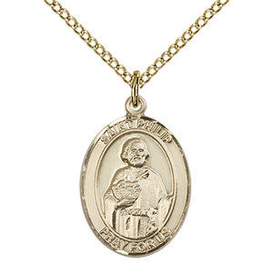 Bliss St. Philip the Apostle Medal - Oval, Medium, 14kt Gold