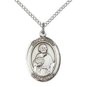 Bliss St. Philip the Apostle Pendant - Oval, Medium, Sterling Silver