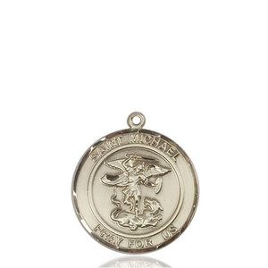 Bliss St. Michael the Archangel Pendant - Round, Large, 14kt Gold Filled
