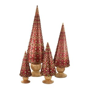 Seville Cone Tree Rib Base Red 7 inch