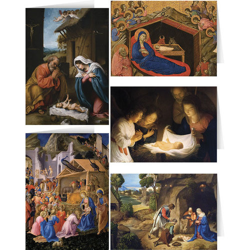 Adoration & Prophets Cards Asst 5 Images Box of 25 by Nelson Fine Art