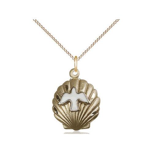Bliss Shell / Holy Spirit Baptism Pendant, 14kt Gold Filled