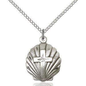 Bliss Shell / Holy Spirit Baptism Pendant, Sterling Silver