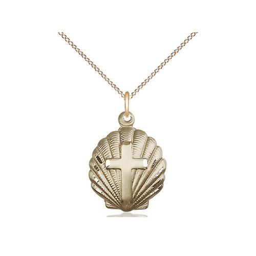 Bliss Cross Pendant, 14kt Gold Filled