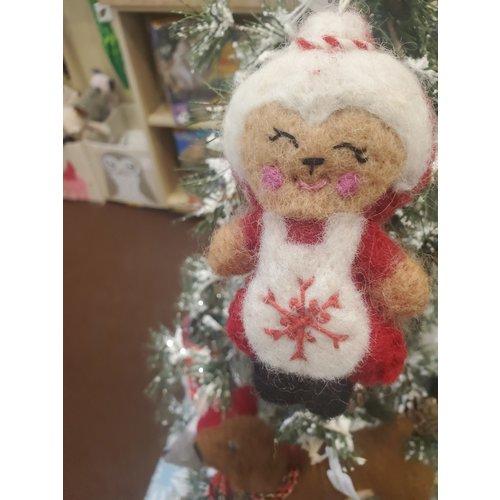Felt Ornament Ms Claus