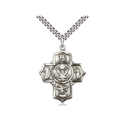Bliss 5-Way / Army Pendant, Sterling Silver