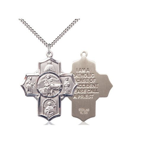 Bliss 5-Way / Special Needs Pendant, Sterling Silver