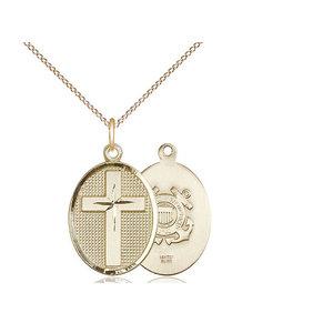 Bliss Cross / Coast Guard Pendant, 14kt Gold Filled